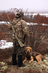 Camo Jacket with Dog